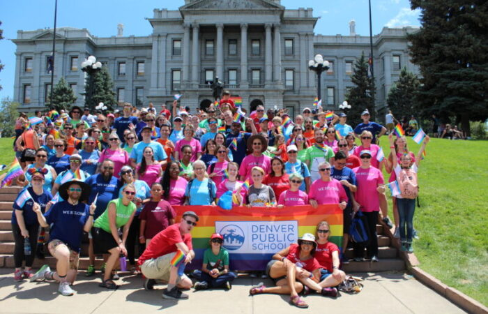 Team DPS on the steps of the Denver Capitol